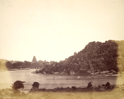 The River Tungabhadra from the River Temple, Vijayanagara 1396